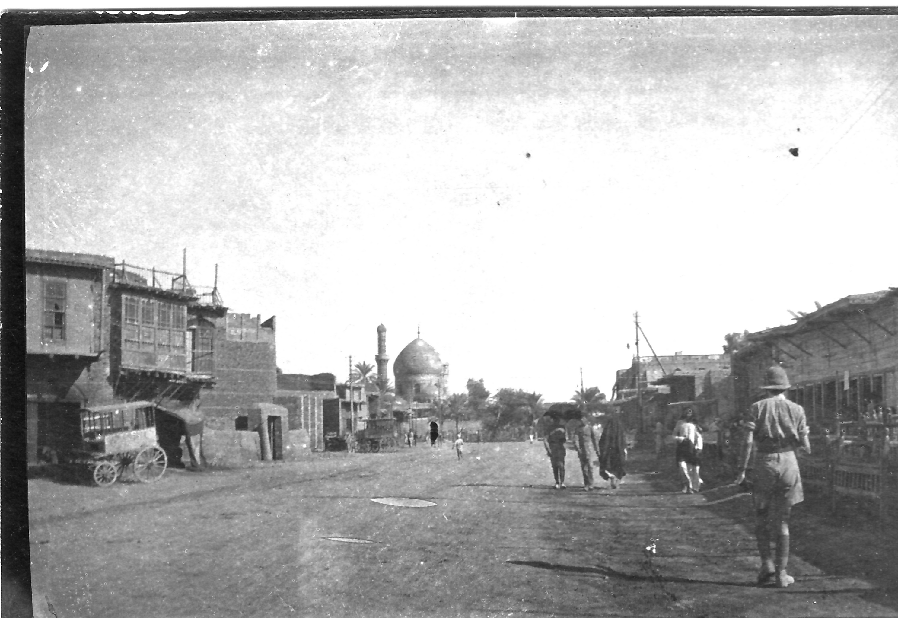A main street in Mosul